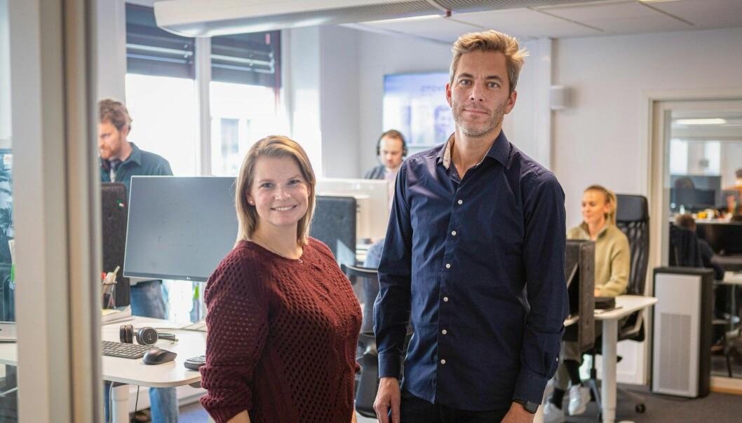 Skandinavia-sjef Gina Nygard og Otovos gründer og daglig leder, Andreas Thorsheim.