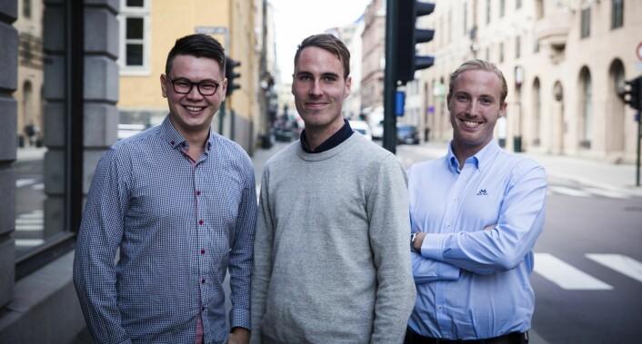 August Kvernmo, Stig Zerener Haugnæss og Ståle Zerener Haugnæss i Lucidtech. Foto: Per-Ivar Nikolaisen