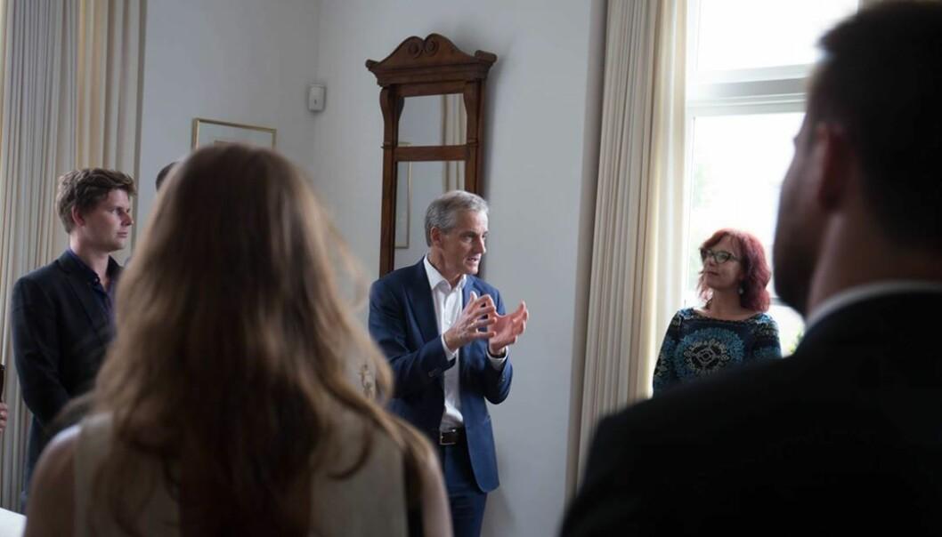 Inspirerende å møte gründerskolestudentene hjemme hos generalkonsul Hilde Skorpen.