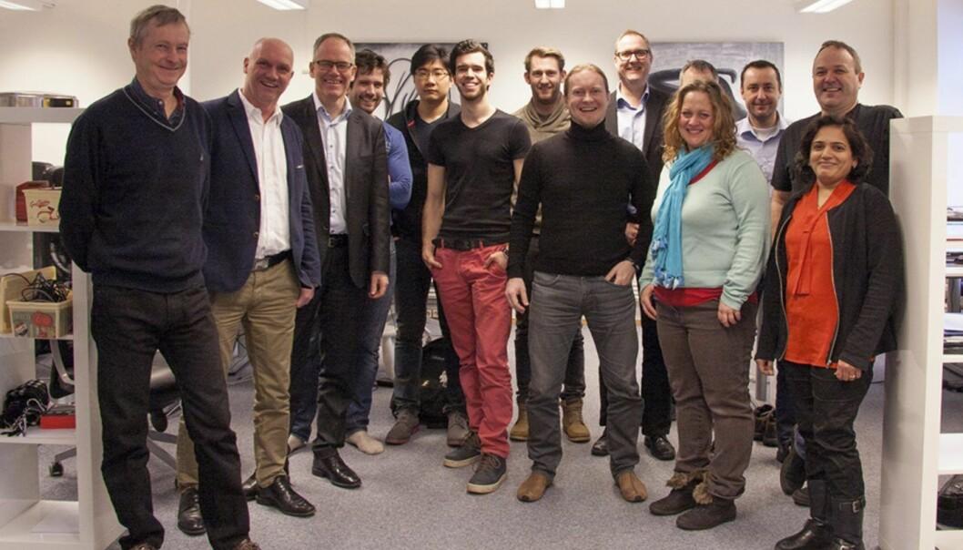 MEAWALLET: Det norske teamet i MeaWallet. CEO Lars Sandtorv (nr to fra venstre). Foto: MeaWallet