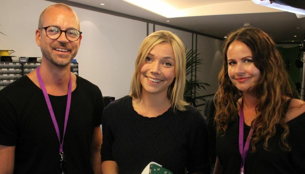 Karen Dolva, gründer og CEO i No Isolation sammen med Ole Andre Skarbøvik, Head of Market Communication, Telia og Ingvild Stubhaug Steg, Marketing Manager, Telia.