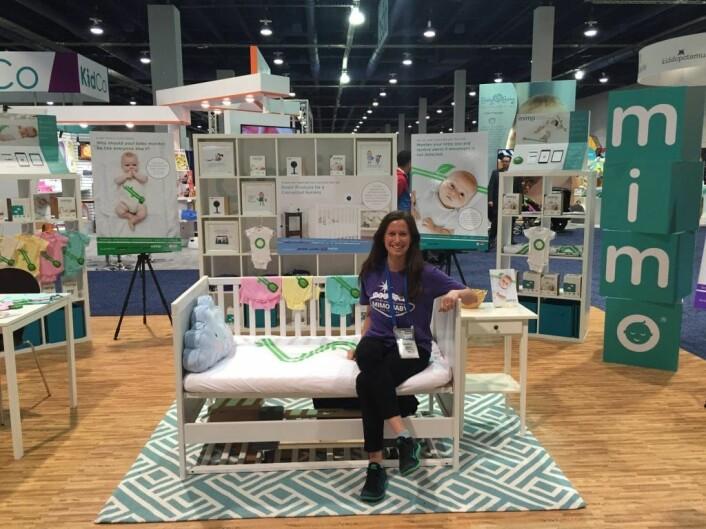 """Selskapet Marie jobbet for fikk en avtale med baby-kjeden Babies""""R""""US. I juni hadde hun sin siste arbeidsdag i USA. Nå bygger hun den norske startupen Inzpire.me. FOTO: Privat"""