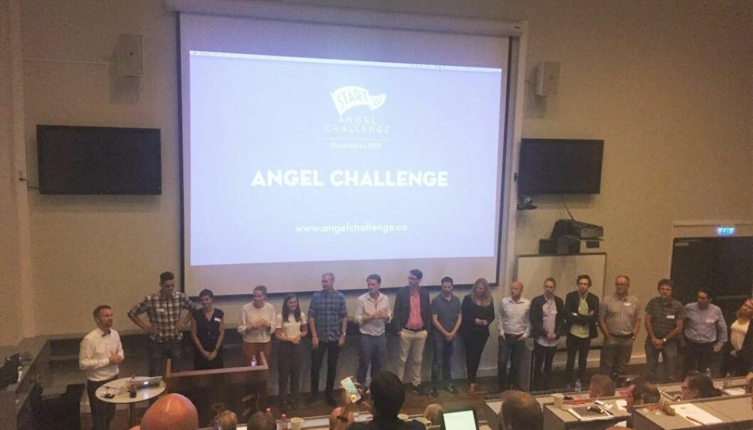 Angel Challenge i Stavanger. Bildet er fra tirsdag, hvor 17 ble til 10 selskaper som gikk videre.  Foto: Karen Elisabeth Ohm Heskja