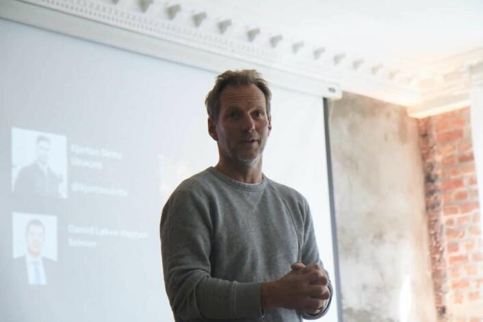 Rolf Assev, partnerr og gründer av StartupLab med fortid fra Opera Software foretrekker at gründere holder verdisettelsen så lav som mulig og tilbyr aksjer, ikke opsjoner. Foto: Lucas H. Weldeghebriel
