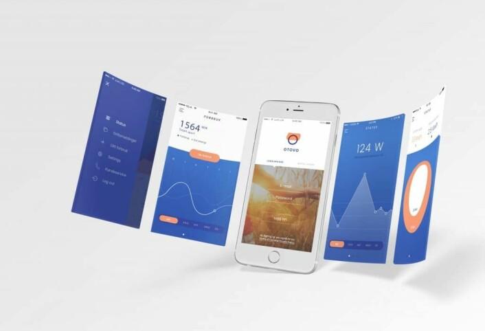 APPEN: Slik ser Otovos app ut som blant annet gir en oversikt over mye strøm som produseres på taket.
