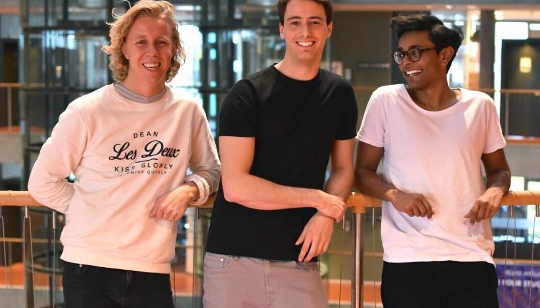 Maths Mathisen, Florian Winder og Vinoth Vinaya. (t.h) i Hold. Foto: Hold