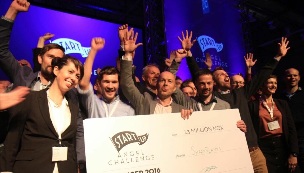 Smart Plants vant Angel Challenge i Stavanger. Foto: Lucas H. Weldeghebriel