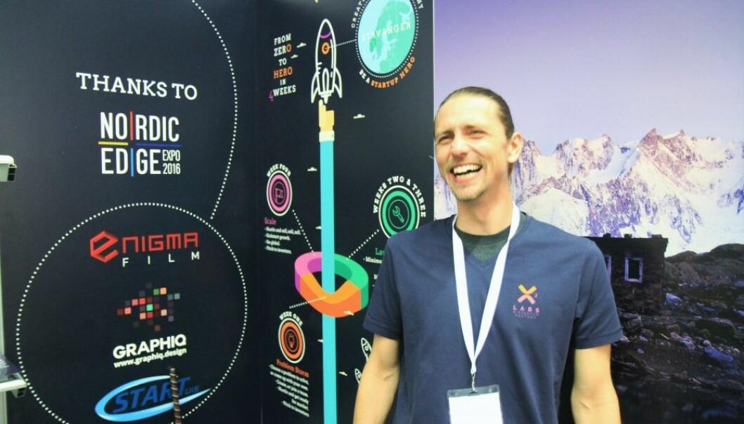 """Sean Paul Shanor er """"captain"""" for den nye startup-fabrikken i Stavanger X2 Labs. Foto: Lucas H. Weldeghebriel"""