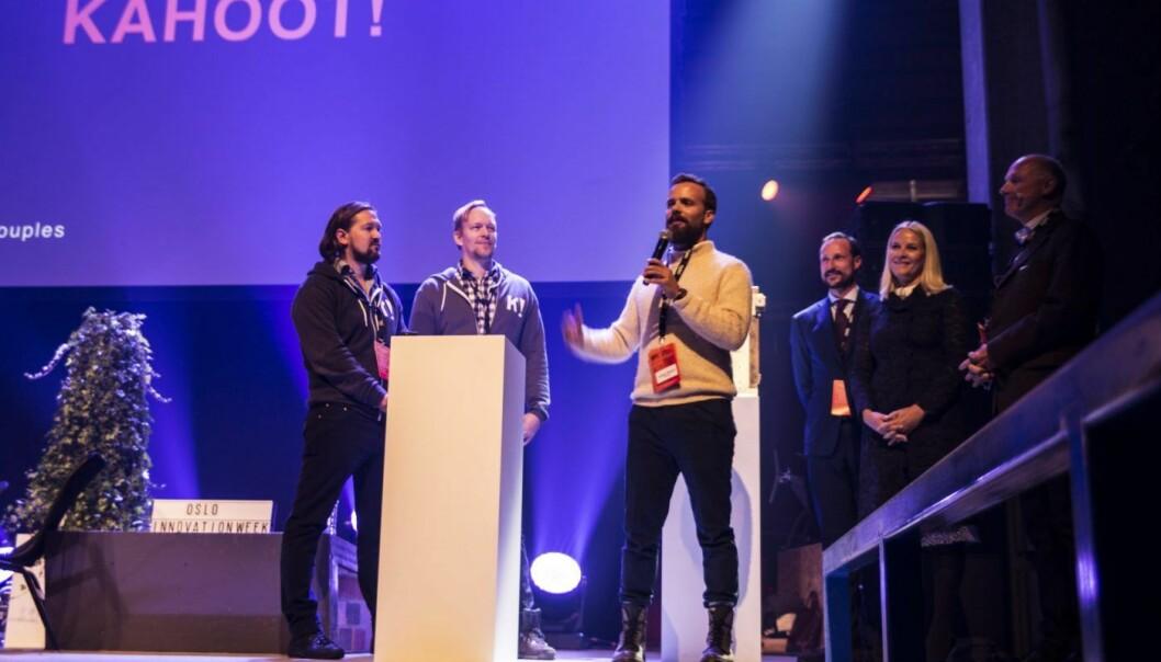 Oslo Innovation Award 2016 går til Kahoot. Kronprinsparet deler ut.