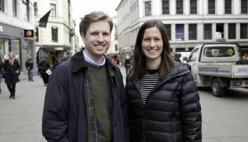 Mats Lyngstad og Marie Mostad er gründere av tjenesten Inzpire.me.
