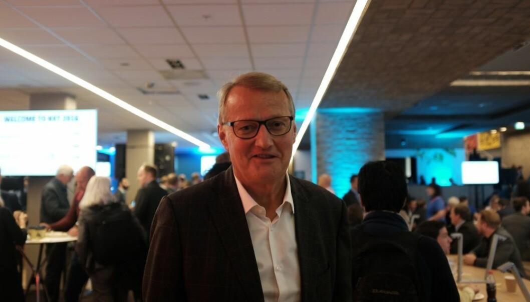 Konsernsjef i DNB Rune Bjerke ønsker drahjelp fra fintech-gründere. Foto: Lucas H. Weldeghebriel