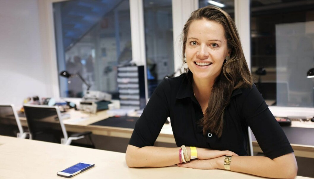 Aurore Belfrage i EQT Ventures lanserte i 2016 en app som skal koble gründere med engleinvestorer. Foto: Lucas H. Weldeghebriel
