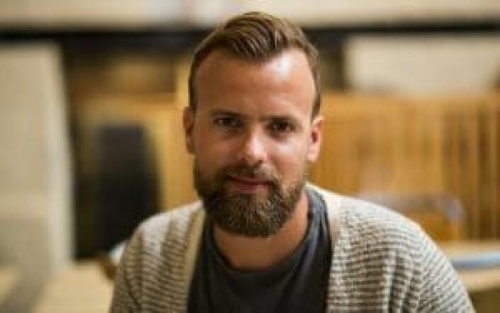 Johan Brand i Kahoot. Foto: Per-Ivar Nikolaisen