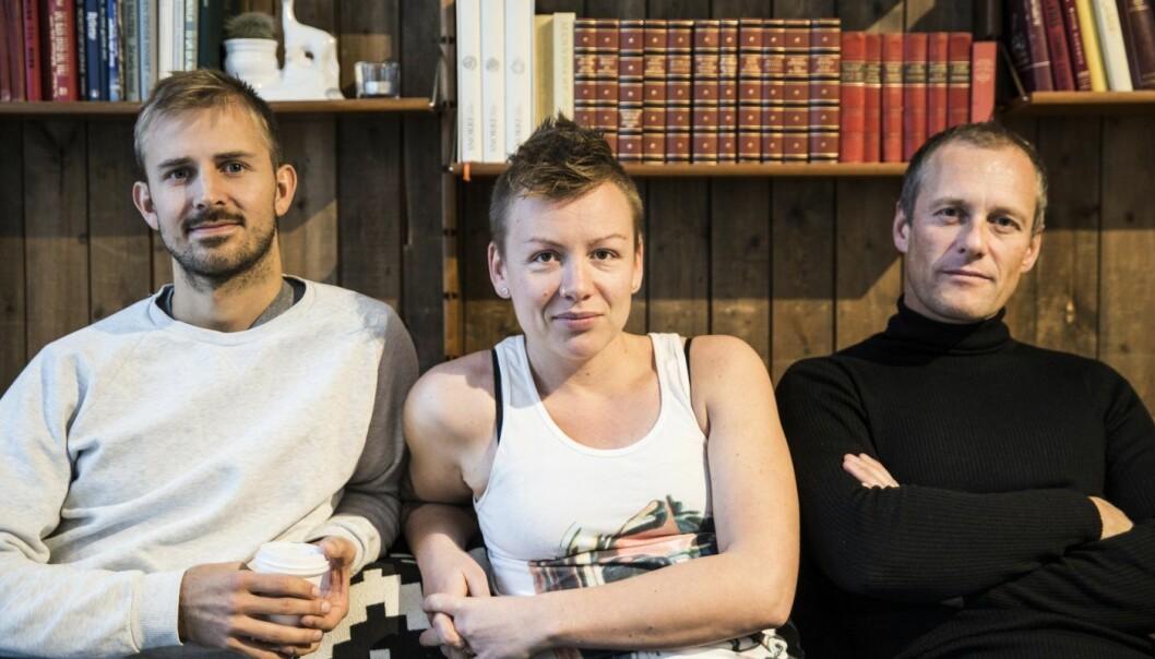 Anders Mjåseth. Anita Schjøll Brede og Frode Eilertsen i Gründeroppropet.