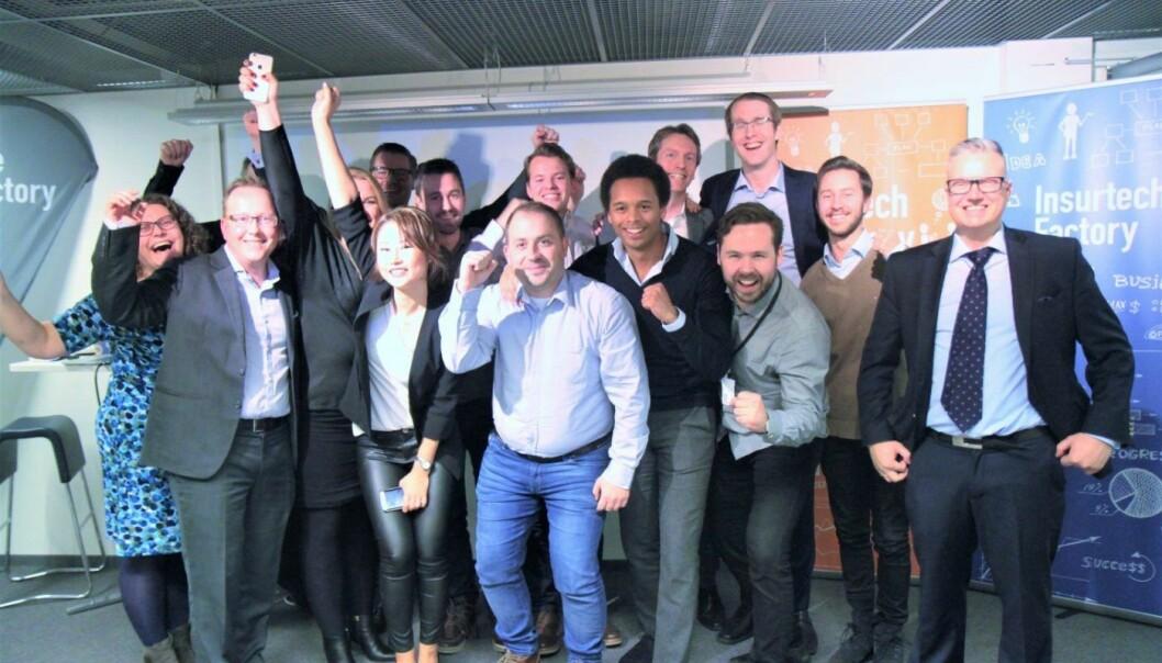 Årets finalister fra Fintech Factorys tre månedersprogram. Foto: Lucas H. Weldeghebriel
