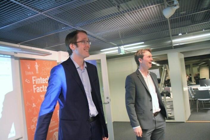 Enin består av Paul I. Huse (til venstre) og André C. Andersen. Foto: Lucas H. Weldeghebriel