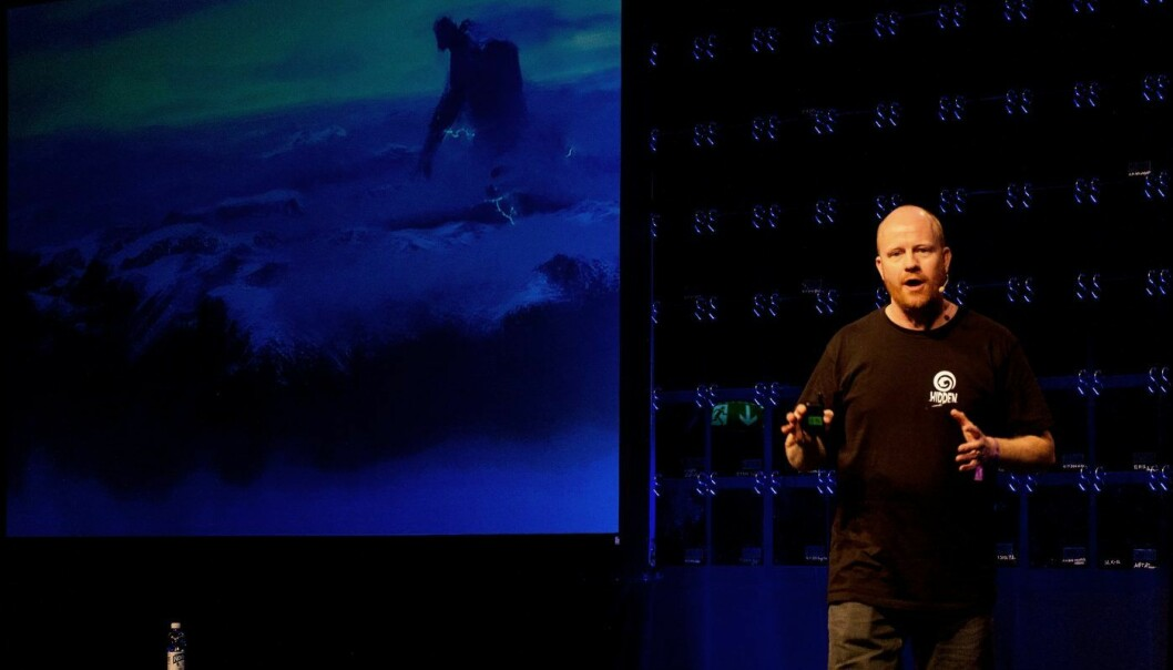 Pål Rørby i Hidden overbeviste juryen under Slush-konferansen. Foto: Nordic Innovation