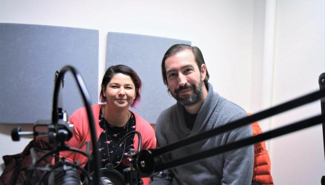 Maria Amelie og Sean Percival deltar i ukens podcast. Foto: Lucas H. Weldeghebriel