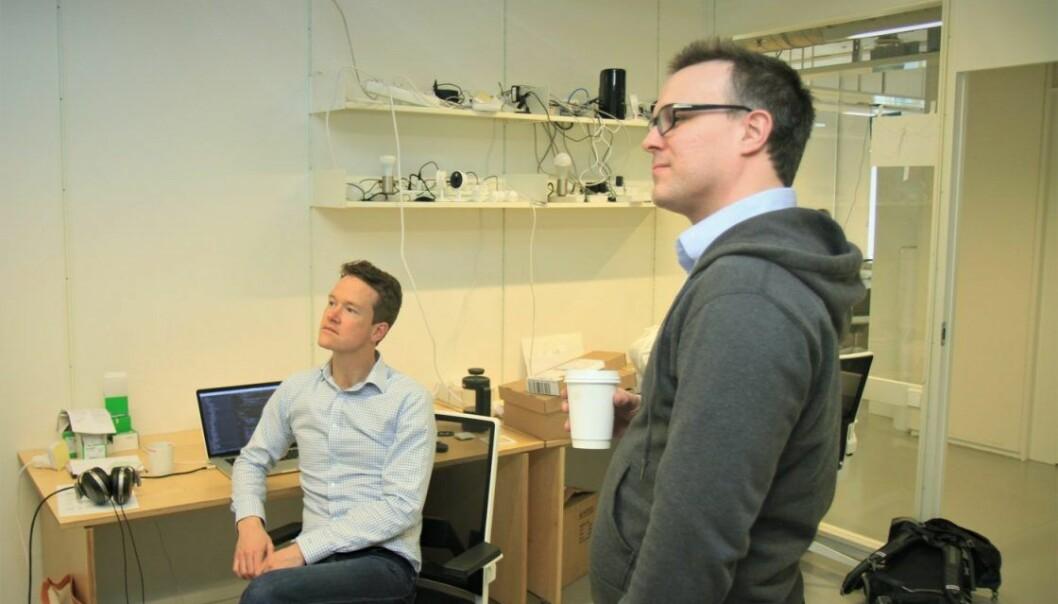 Kyrre Wathne og Henrik Holen grunnla Viva Labs i 2012.  Nå gjennomfører de sin andre emisjonsrunde. Foto: Lucas H. Weldeghebriel