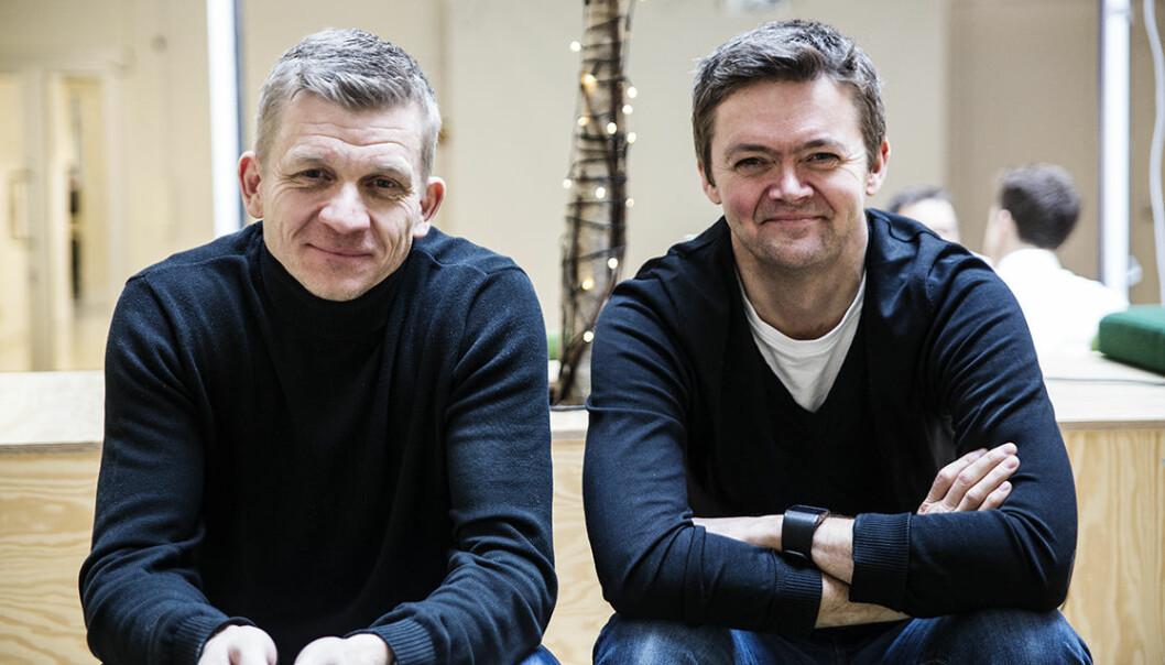 Bent Erik Skaug og Olav Nedrelid i Domos.