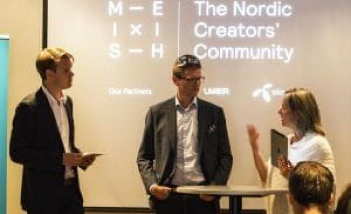 Torstein Tvedt Solberg (Ap), Terje Breivik (V) og Hilde Wibe i Abelia i diskusjon om skatteincentiver for startupinvesteringer. Foto: Per Ivar Nikolaisen.