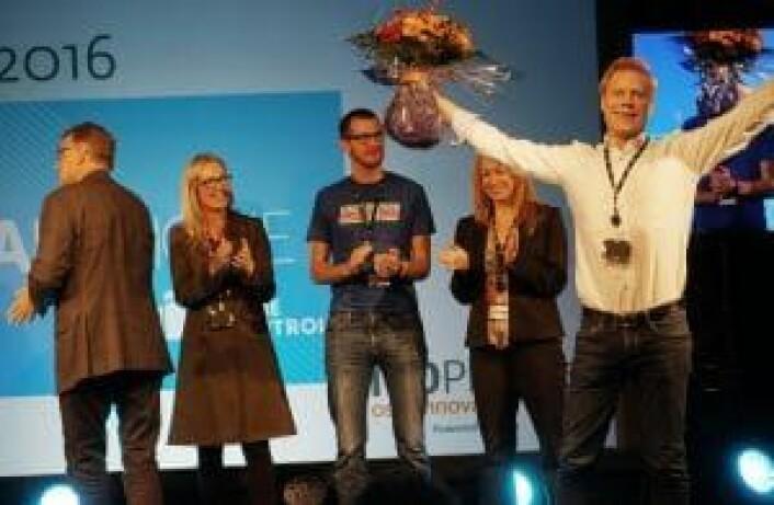 HomeControl og Yngvar Pettersen vant 100 Pitches. Foto: Mona Sprenger