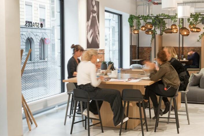 Spaces, er et nytt coworking space i Oslo, som åpnet 1. august . Foto: Robert Eik.