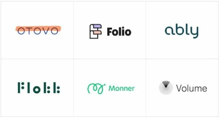 """Noen av merkenavnene og identitetene vi i Heydays har utviklet sammen med våre kunder og samarbeidspartnere (<a href=""""http://maskinen.no"""">Maskinen</a>)"""