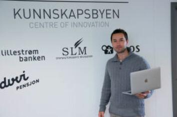 Daniel Dalsborg i Level 9, trives godt i Scale Ups lune og moderne lokaler. Foto: Schibsted Brand Studio