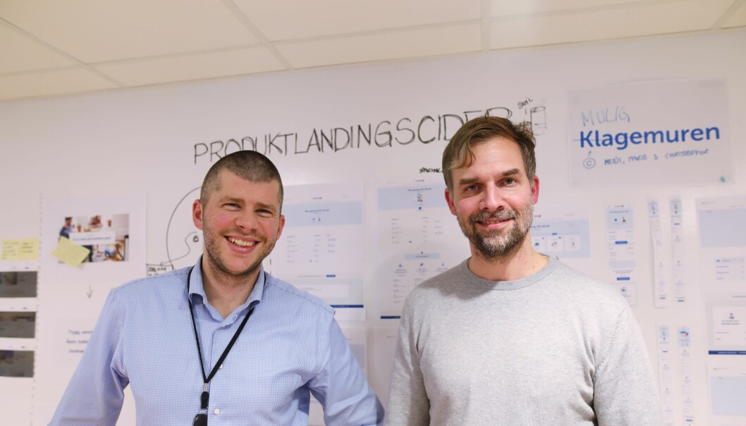 Jostein Emmerhoff, leder digitalbankutvikling i Sparbank1 og Thomas Allan Nygaard, produkteier digitalbank, personmarked.