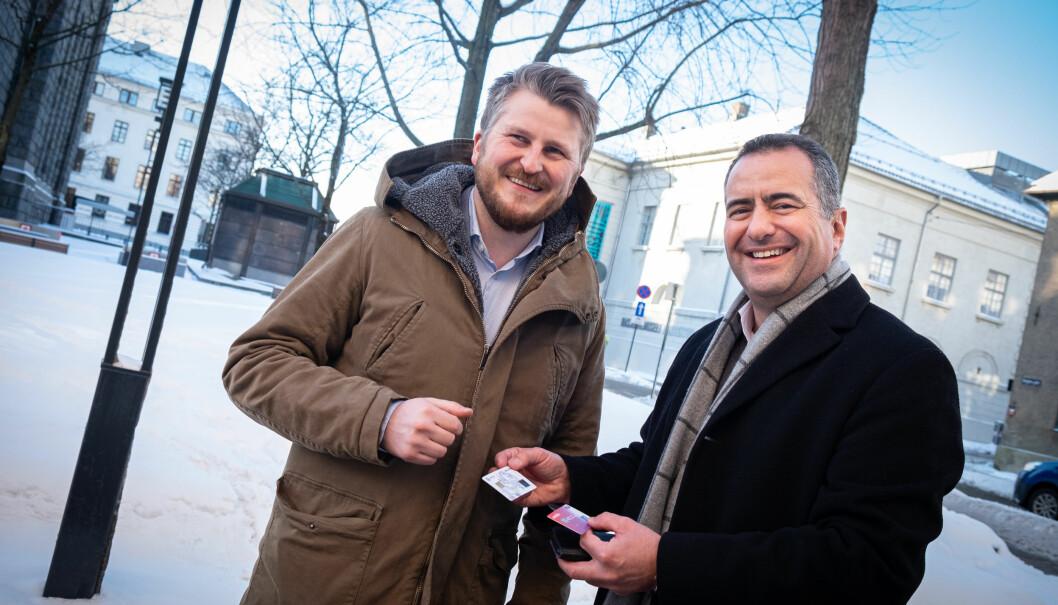 Gründer Kim Humborstad og CEO André Løvestam i Zwipe.