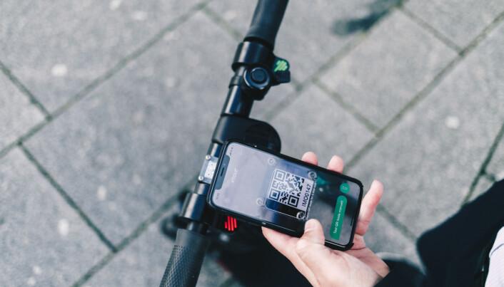 Gjennom imove-appen har kundene bl.a. kontroll over sin elektriske sparkesykkel