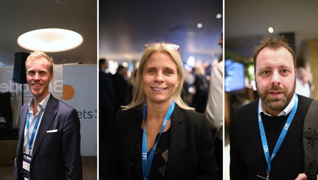 Georg Olav Ramstad, Head of Open Banking Sales i Nets, Camilla Andersson, gründer av Around Norge og Espen Einn, gründer av Payr.