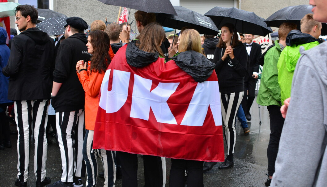 NTNU-studenter under studentfestivalen UKA.