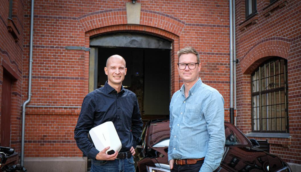 Tibber-gründerne Edgeir Vårdal Aksnes og Daniel Lindén