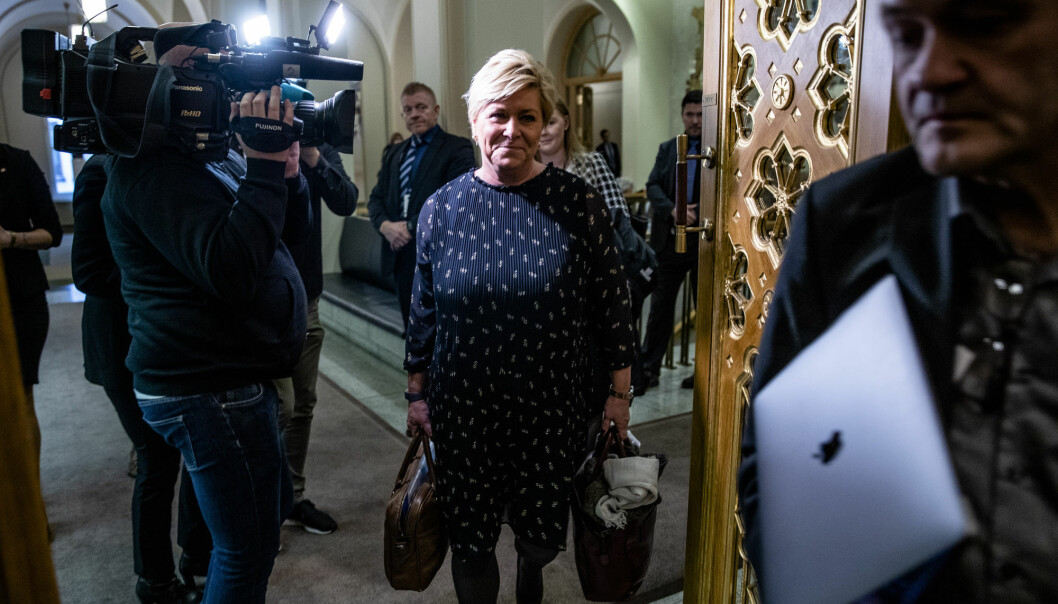 Finansminister Siv Jensen (Frp). Arkivfoto: Stian Lysberg Solum / NTB scanpix