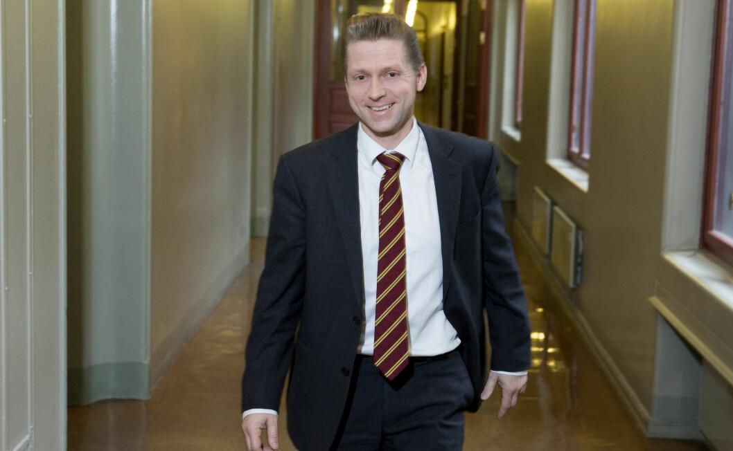 Statssekretær Jørgen Næsje (Frp) avviser at regjeringen jakter selskaper som har fått Skattefunn-støtte i strid med EØS.