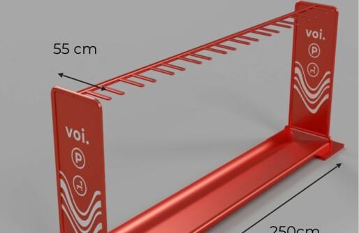 Med disse stativene vil Voi få bukt med sparkesykkel-kaoset i Oslo