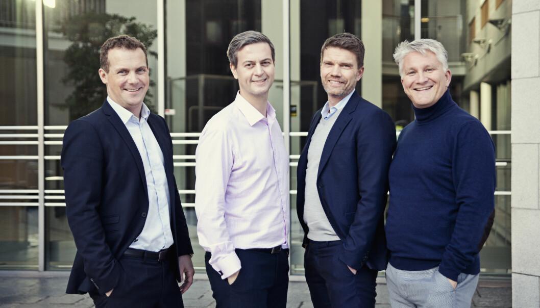 Teamet i Hudya Group. Kommunikasjonsdirektør Morten Kvam til høyre.