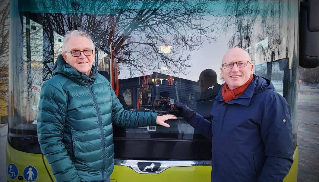 Styreleder Håkon Døvre og daglig leder Rune Burkeland.
