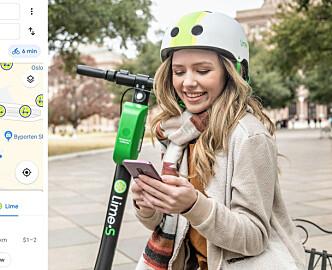 Nå blir elsparkesykler et reiseforslag i Google Maps i Oslo