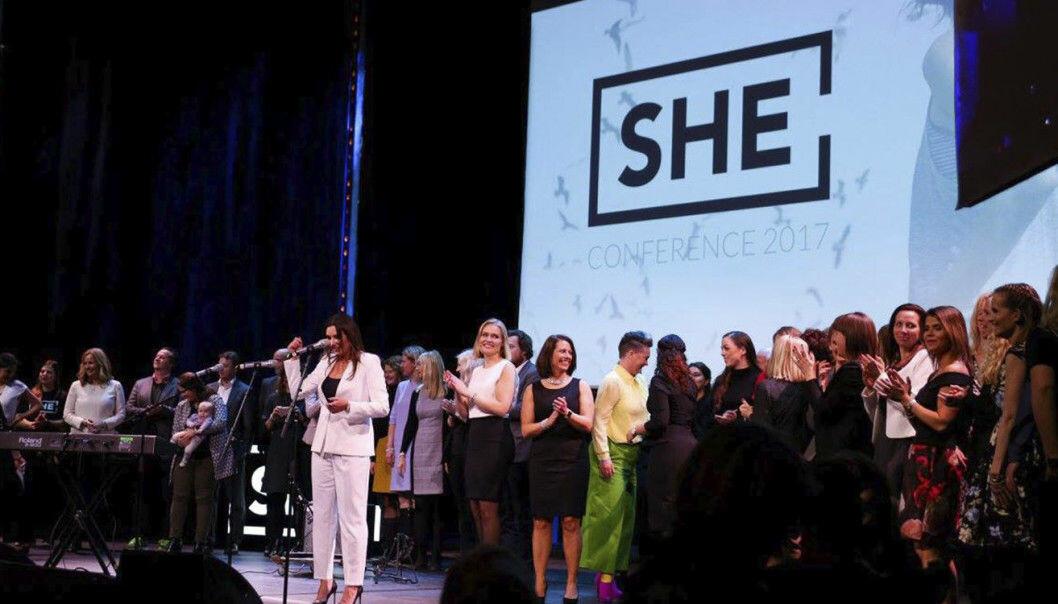 Fra SHE-konferansen i 2017. SHE Community har anklaget DNB for å ha kopiert navnet SHE Invests og deler av konseptet.