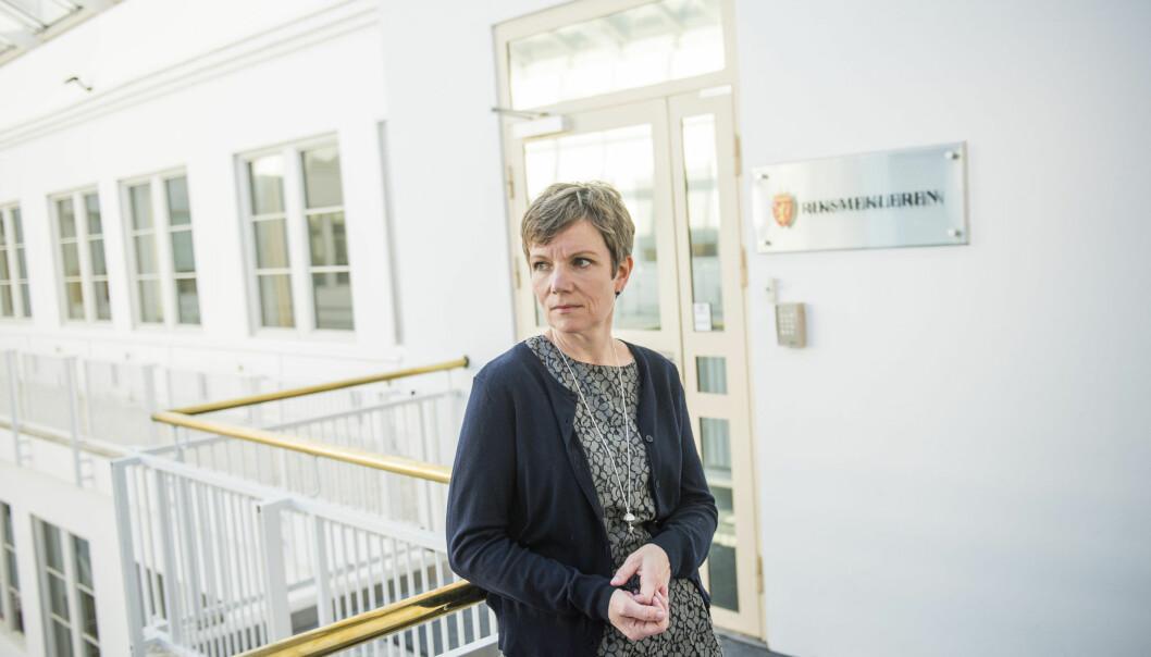 President i Legeforeningen Marit Hermansen vil sette seg grundig inn i domen. Bildet er fra mekling i sykehusstreiken i 2016. Foto: Fredrik Varfjell / NTB scanpix