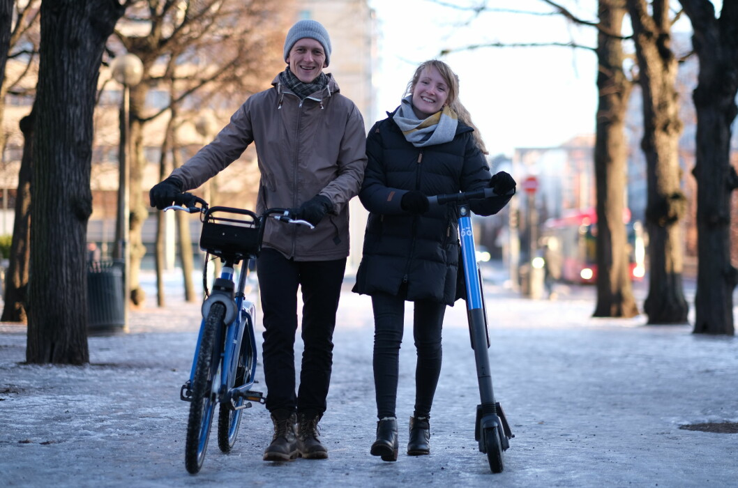 Data Science Team Lead Hans Martin Espegren og Data Scientist Kari Nordholm i Urban Sharing.