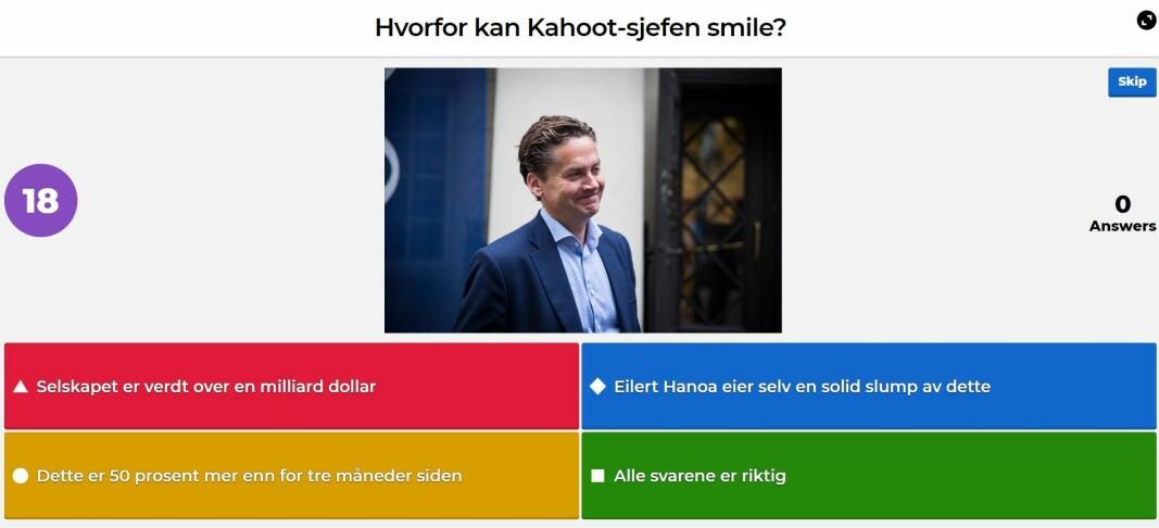 Kahoot-sjef Eilert Hanoa ansetter ny salgssjef.