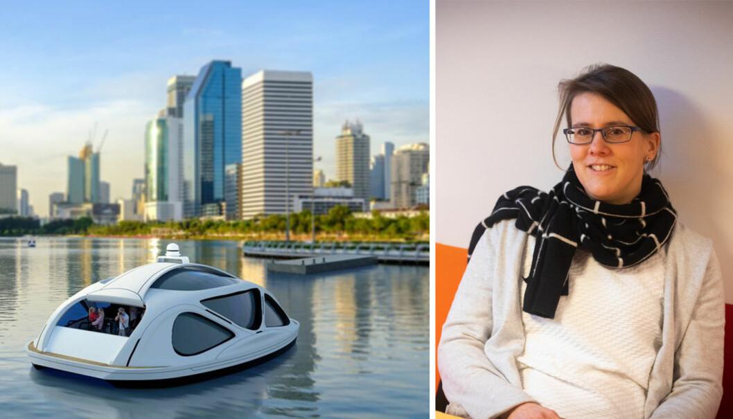 Autonome ferjer kan bli det nye fremkostmiddelet, mener CEO i Zeabuz, Susanne Jäschke