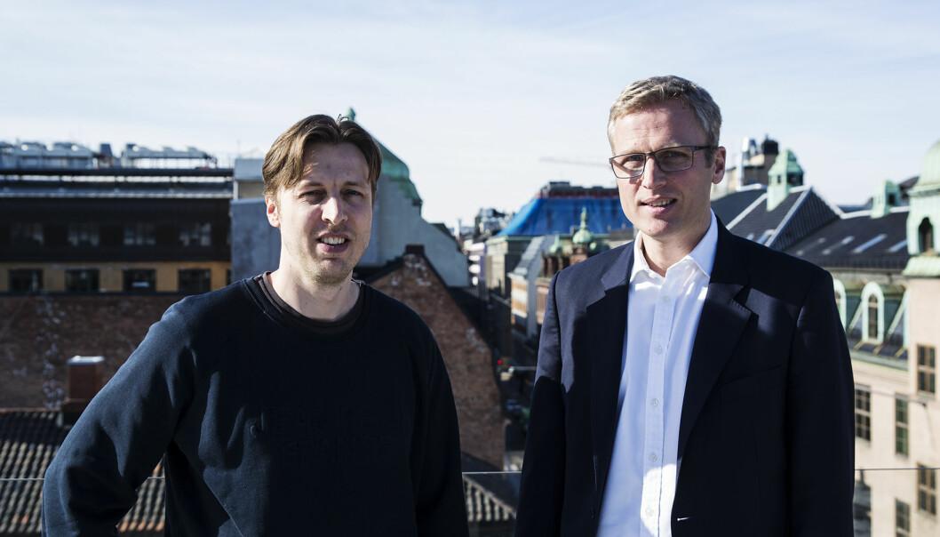Brødrene Lars og Thomas Nygaard står bak NorQuant. De fikk nylig 14 millioner kroner fra Forskningsrådet. Arkivfoto: Per-Ivar Nikolaisen