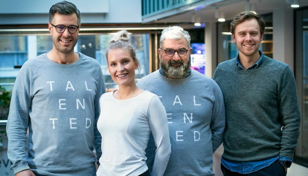 Talented Norge-teamet f.v. Isaac Gray, Kristin Haga, Svein Sørensen og Erlend Stokke.