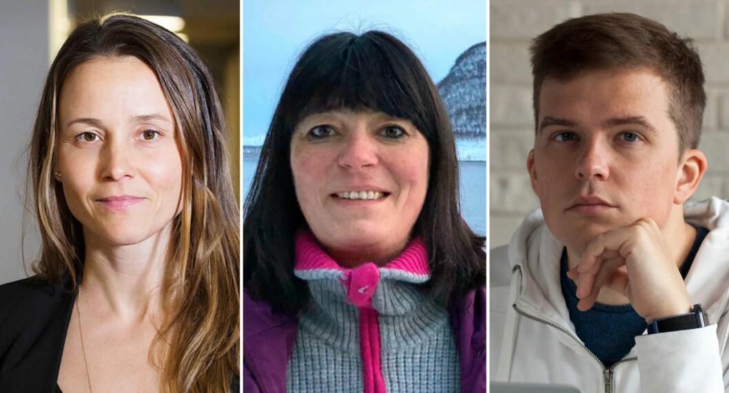 Elin Bergli Bang (f.v), Marianne Wahlstrøm og Aleks Gisvold er fornøyde med investeringene de har gjort via Monner.