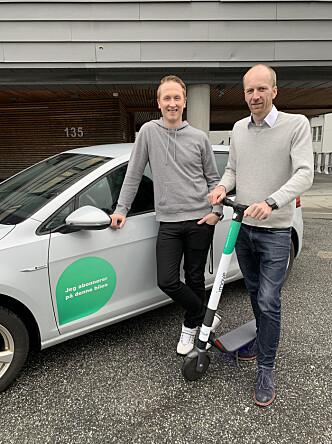 Hans Kristian Aas (CEO) og Gunnar Birkenfeldt (CMO) og i Imove.